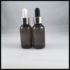 China Black Empty PET E Liquid Bottles , Durable Eye Dropper Bottles With Pipette supplier