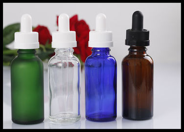 China 30ml Green Glass Bottle Essential Oil Bottle Cosmetic Liquid Bottle supplier