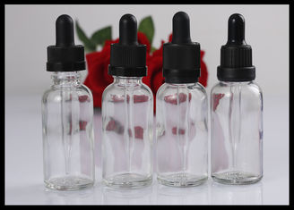 China Durable Clear Essential Oil Glass Bottles 30ml Refillable For Liquid Flavoring supplier