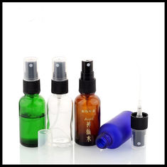 China 30ml Essential Oil Glass Dropper Bottle With Green / Clear / Amber / Blue Color supplier