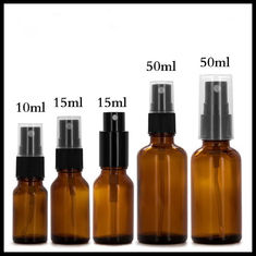 China Amber Spray Essential Oil Glass Dropper Bottle 30ml 60ml 120ml Capacity supplier