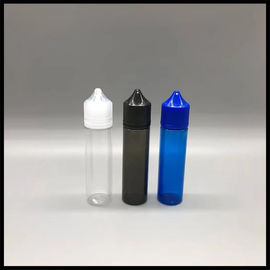 China ISO Chubby Dropper 60ml Unicorn Bottle RV PET Plastic Material Round Shape For E Cig supplier