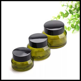 China Oblique Shoulder Empty Cosmetic Containers , Amber Glass Containers With Lids supplier