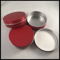 China Round Shape Cosmetic Cream Jar Empty Containers Aluminum Makeup Case Cotton Type supplier
