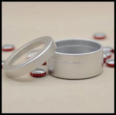 China 25g Aluminum Jar With PVC Window Aluminum Wax Can Wholesale supplier