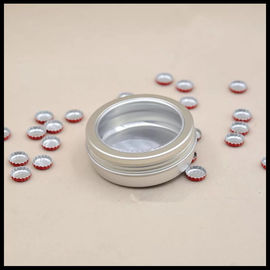 China 100g Window Aluminum Cosmetic Containers Jewelry Powder Box Tea Candy Food Jar supplier
