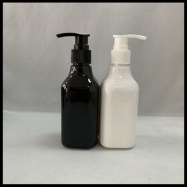China Square PET Cosmetic Personal Care Bottles 200ml Facial Clearner Shampoo Container supplier