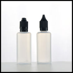 China Dropper PE E Liquid Bottles 60ml Translucent Childproof Tamper Evident Cap supplier