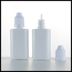 China White PET E Liquid Bottles , Plastic Eye Dropper Bottles 30ml Childproof Cap supplier