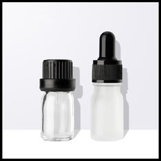 China Different Sizes Essential Oil Glass Bottles Clear Eye Dropper Caps Childproof supplier