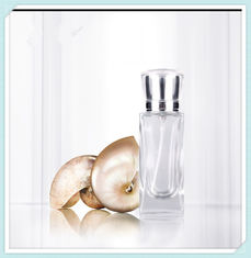 China Clear Frosted Perfume Spray Bottles Refill Glass Fine Mist With Anodized Aluminum Cap supplier