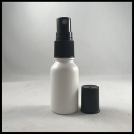 Matte White Essential Oil Glass Dropper Bottle 15ml With Pump Spray Cap