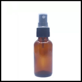 Brown Amber Glass Spray Cosmetic Bottles Black Cap Color For Essential Oil