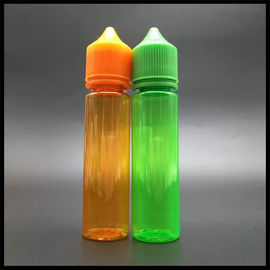China Chubby Unicorn 60ml Plastic Dropper Bottle Green / Orange Color Vapor Liquid Container factory