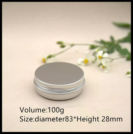 Empty Aluminum Cosmetic Containers , 100g Aluminum Cosmetic Jar With Lids
