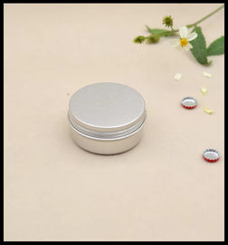 Round Shape Aluminum Cosmetic Containers 50g Cream Cotton Can With Screw Lid