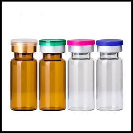 China 10ml Vials Empty Glass Cosmetic Bottles Rubber Stopper Sterile Serum Container factory