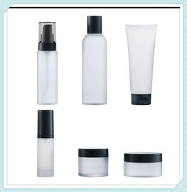 China Clear Frost Cosmetic Packaging Bottles Set Cream Jar Facial Tube With PP Cap factory