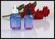 Square Essential Oil Glass Bottles 30ml E Liquid Glass Container Round Shape