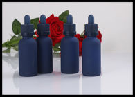 Childproof Cap Aromatherapy Glass Bottles , 30ml Blue Glass Bottles For Essential Oils