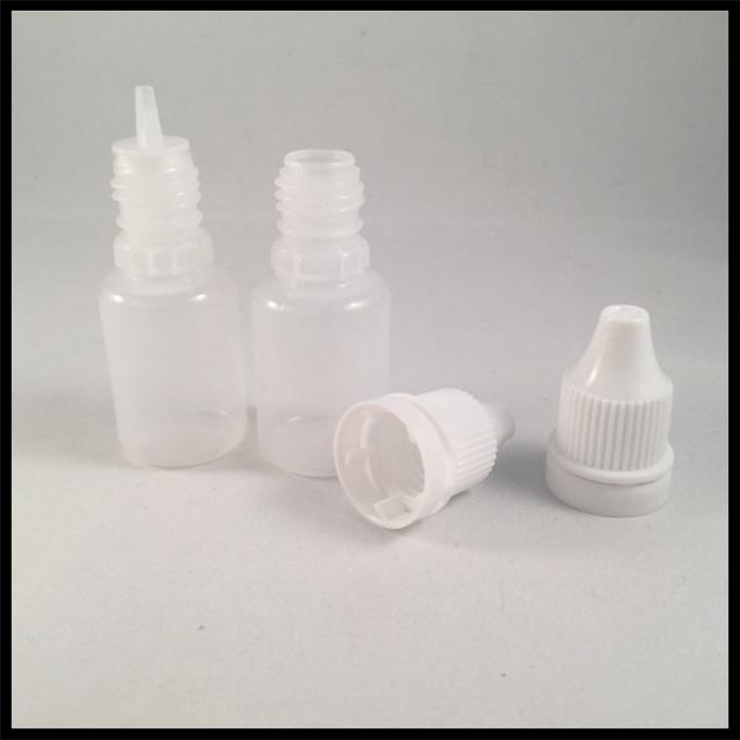 E Liquid 10ml LDPE PE E Liquid Bottles With Child Resist Cap Acid Base Resistance