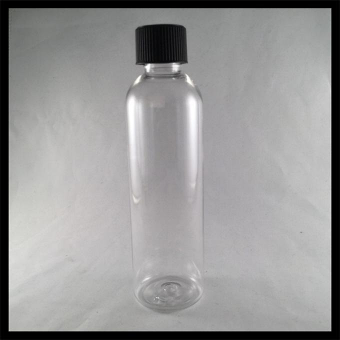 120ml Twist Top Juice Bottles , Transparent Plastic Vials With Screw Caps