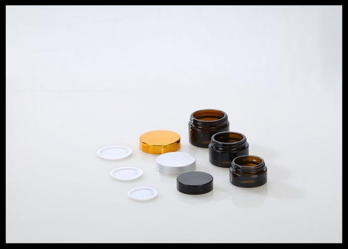 Small Glass Cosmetic Jars , Face Cream Containers Glass Containers With Lids For Cosmetics