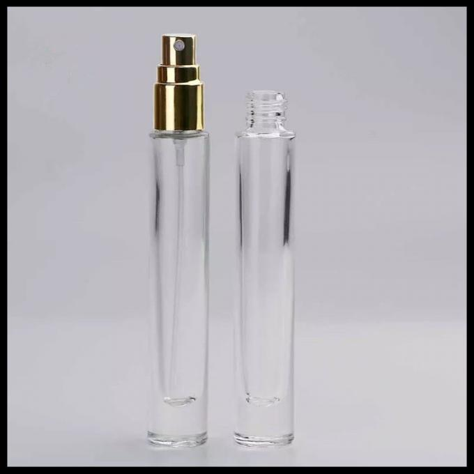 Glass Material Perfume Spray Bottles , Small Empty Spray Bottles Round Long Shape