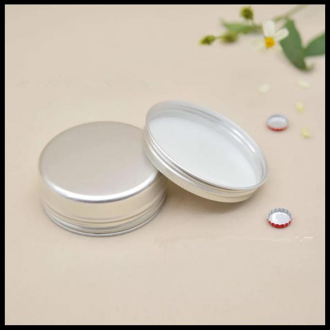 Screw Cap Aluminum Cosmetic Tins 60g Cream Makeup Face Mask Eyeshadow Case Durable