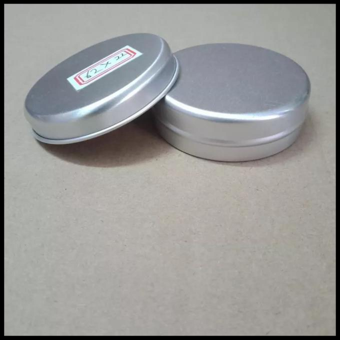 60g Metal Thread Round Cans With Screw Lids Tinplate packaging tins Candy Jar