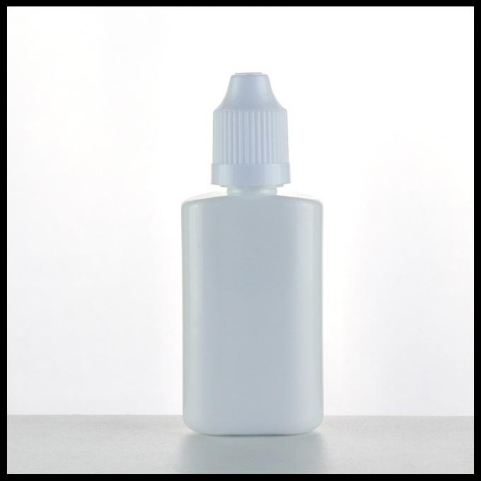 White PET E Liquid Bottles , Plastic Eye Dropper Bottles 30ml Childproof Cap