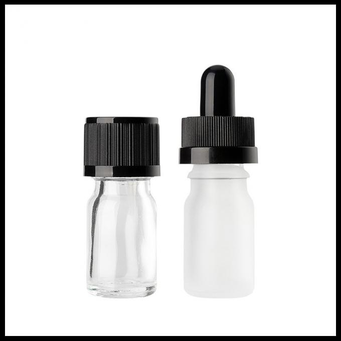 Different Sizes Essential Oil Glass Bottles Clear Eye Dropper Caps Childproof